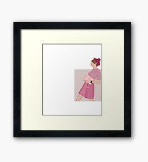 Lámina enmarcada Años 60 años 60 Vintage estilo Lookbook rosa Arte