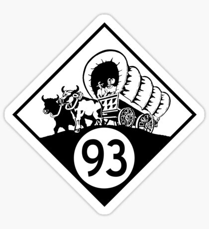 ninety-three: the classic t-shirt Sticker