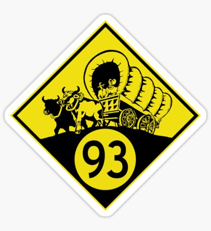 ninety-three: the classic (yellow) t-shirt Sticker