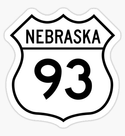 ninety-three: the highway t-shirt Sticker