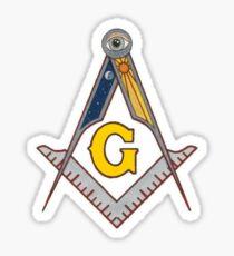 Freimaurerquadrat und Kompass Sticker