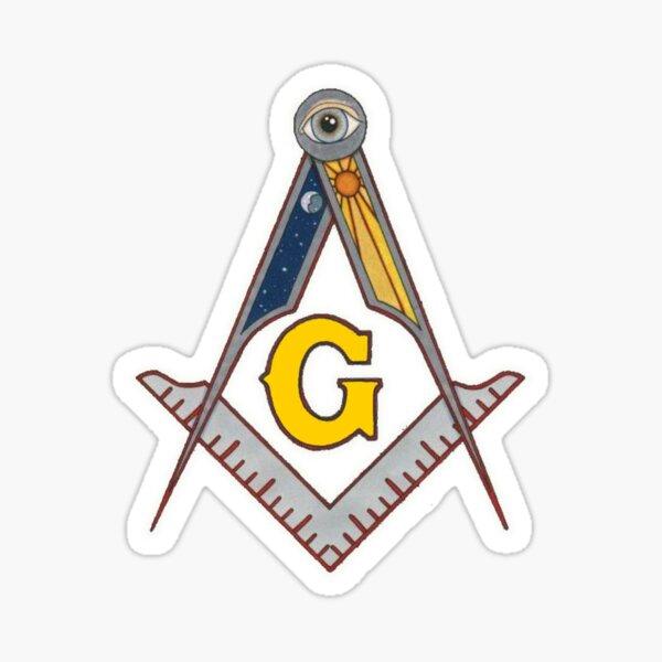 Masonic Square and Compass Sticker