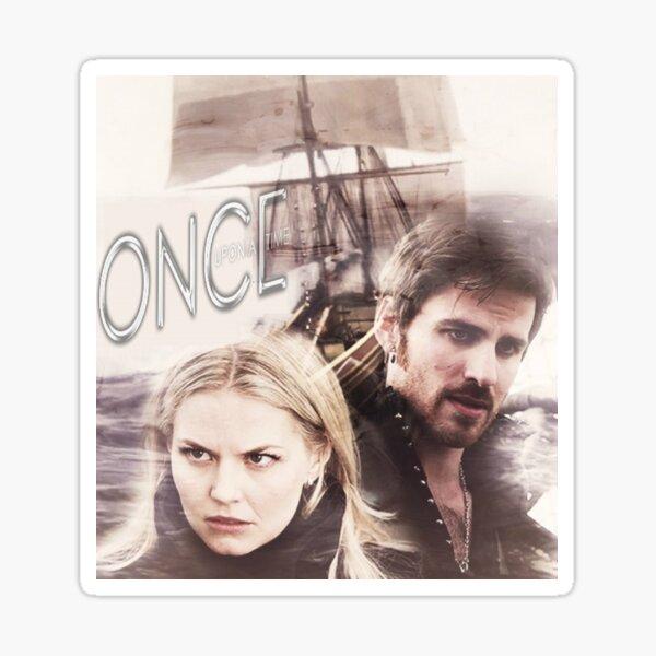 Hook and Emma-OUAT Sticker
