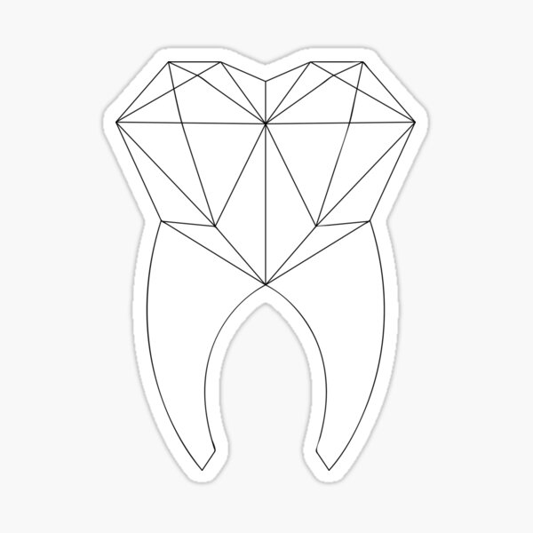 Geo Tooth Sticker