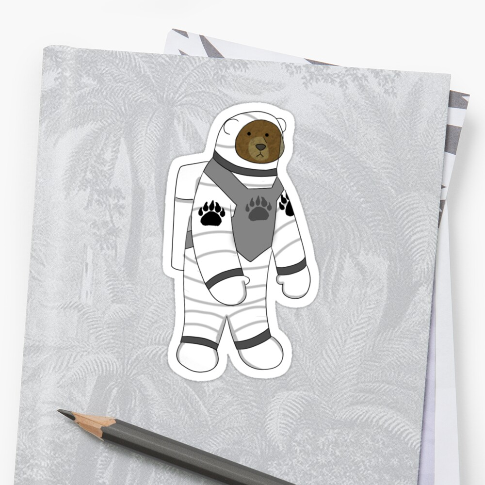 Astronaut bear  Sticker