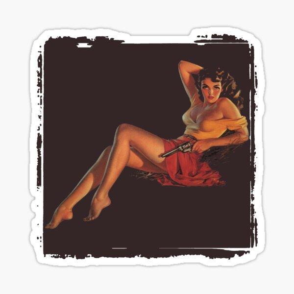 Jane With Gun Sticker