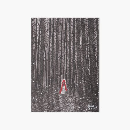 INTO THE WOODS - RED RIDING HOOD Art Board Print