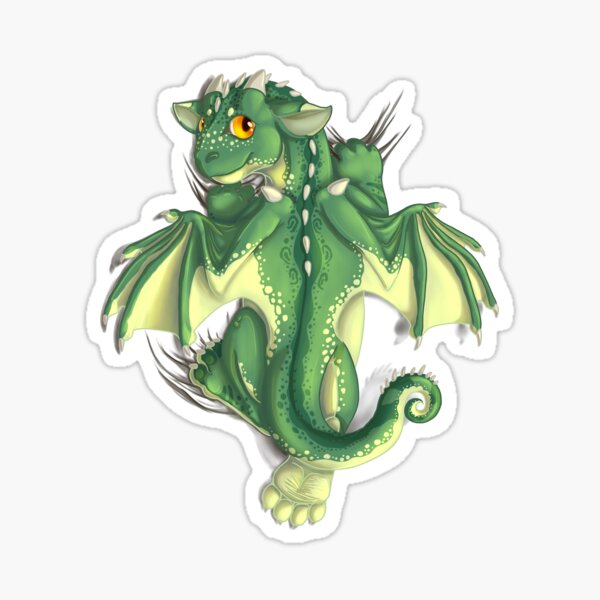 D is for Dragon! Sticker