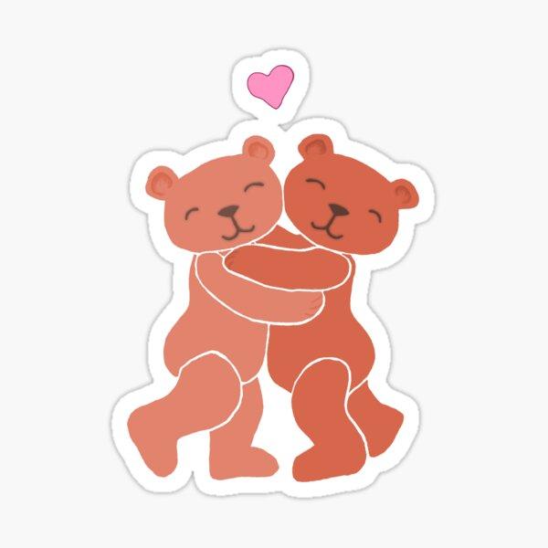 A Valentine's Day Teddy Bear Hug Sticker