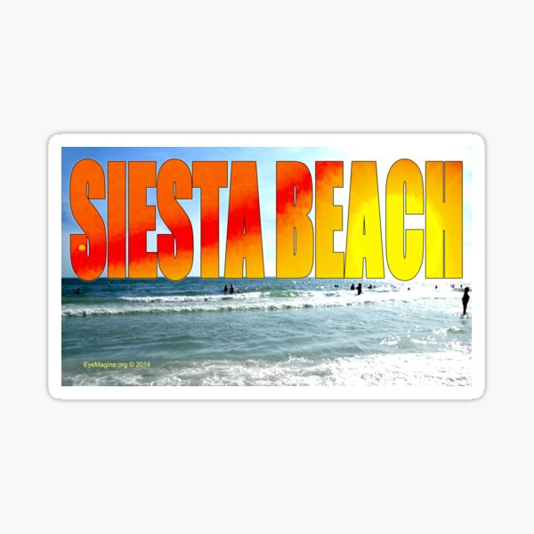 Siesta Key Beach Sunset Sticker