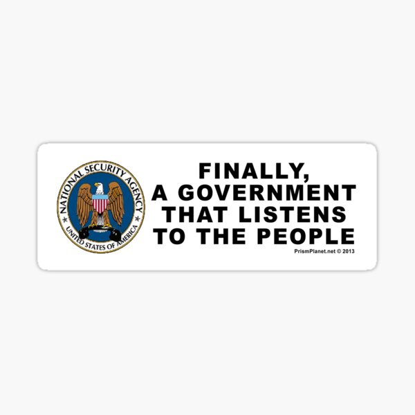 A Government that Listens Sticker