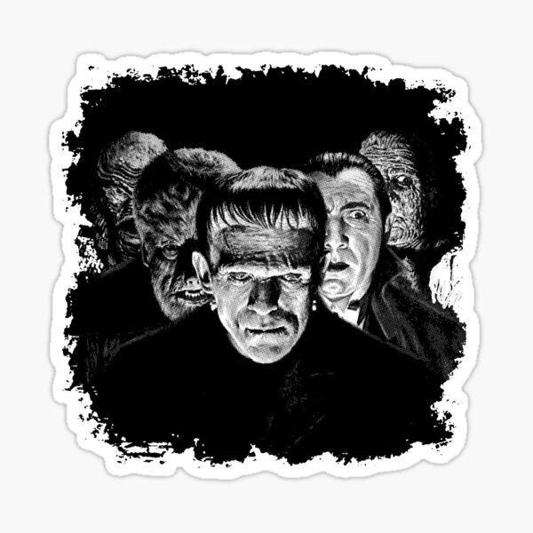 Classic Monsters Black & White POP! Sticker