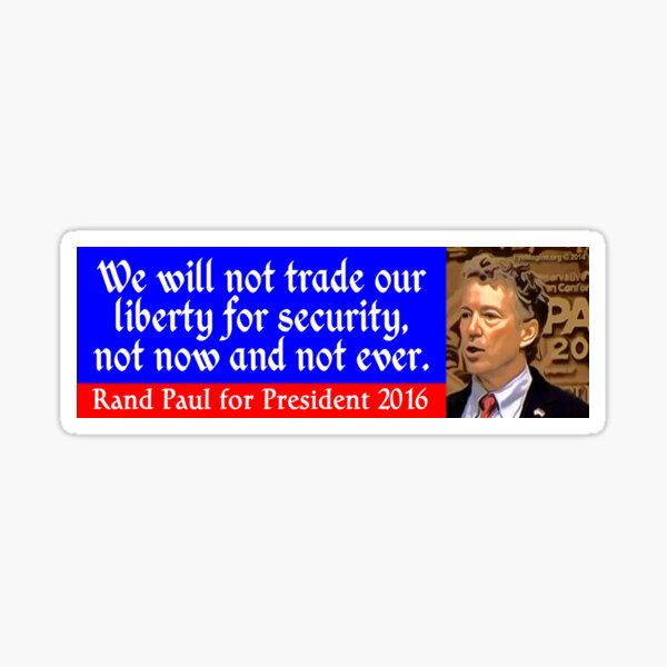Rand Paul 2016 Sticker