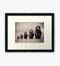 Matryoshka Dolls Framed Print