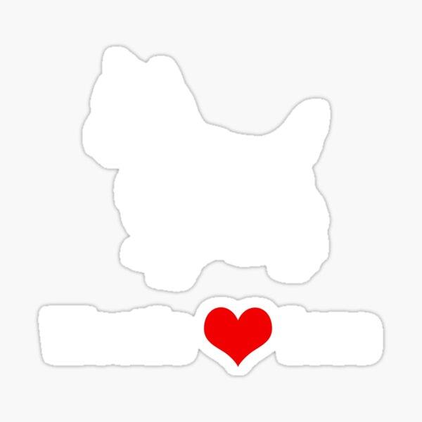 Westie Love Design Sticker