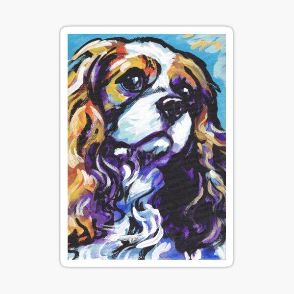 cavalier king charles spaniel Dog Bright colorful pop dog art Sticker