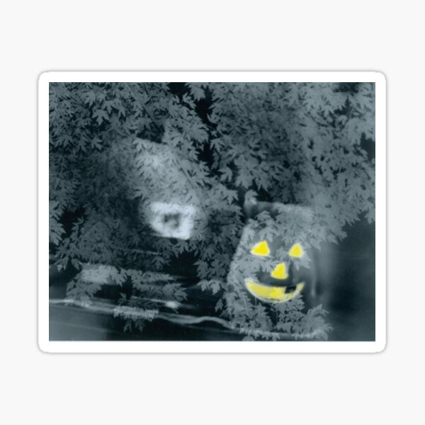 Jolly Jack O' Lantern Says Happy Halloween Sticker