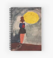 Walking in the moonlight  Spiral Notebook