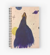 Girl in purple dress Spiral Notebook