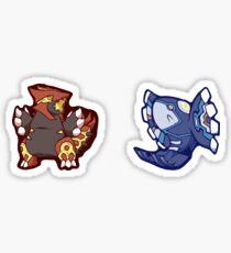 Pokémon / ORAS Groundon und Kyogre Sticker