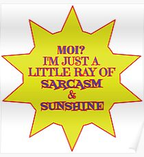 I'm a Ray of Sarcasm & Sunshine Poster