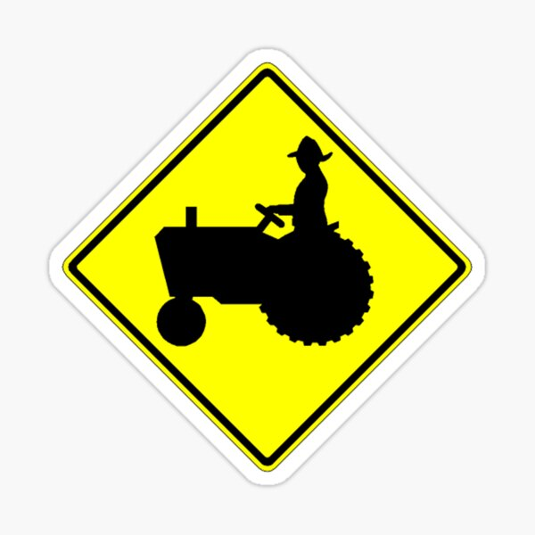 Signe de la ferme Tractor Crossing Sticker