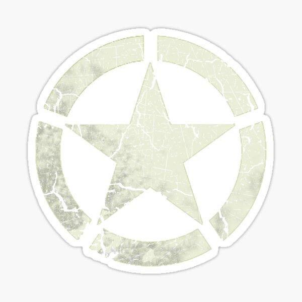 Vintage Look US Army White Star Emblem Sticker