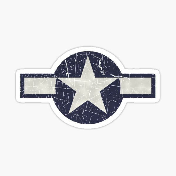 Vintage Look USAAF Roundel Graphic Sticker