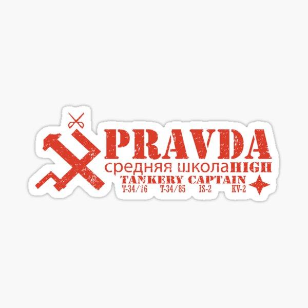 Pravda Team Shirt Sticker