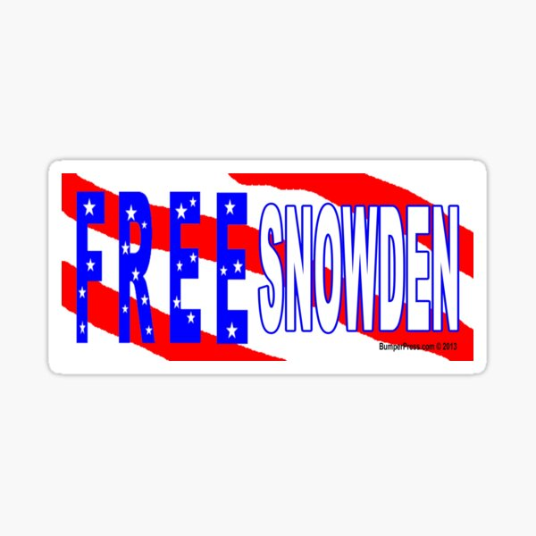 Free Snowden Sticker