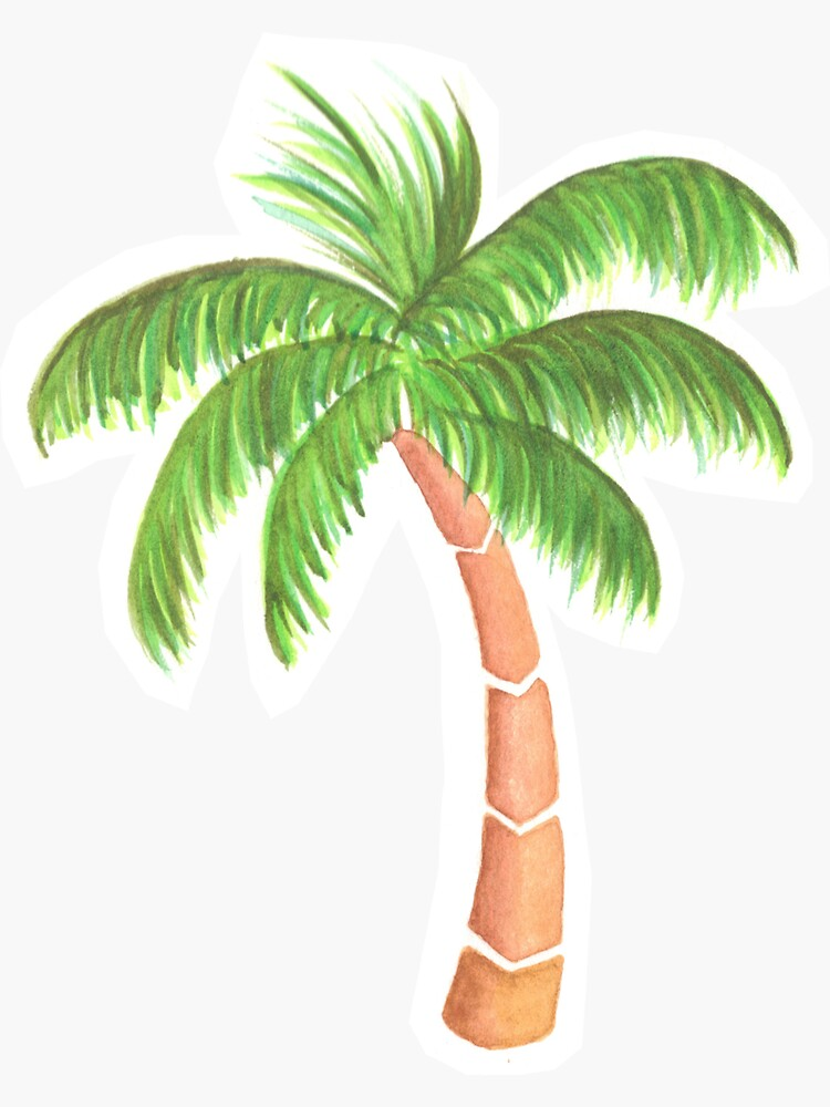 Tropical Palm Tree - Watercolor by chargingrhinos