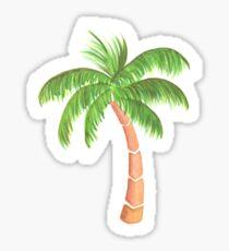 Tropische Palme - Aquarell Sticker
