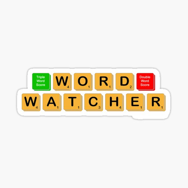 Word Watcher Sticker