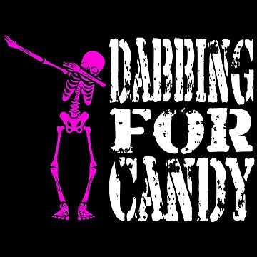 Funny Halloween Pink Skeleton Dabbing For Candy. Trick or Treat Candy Lover Gift by galleryOne