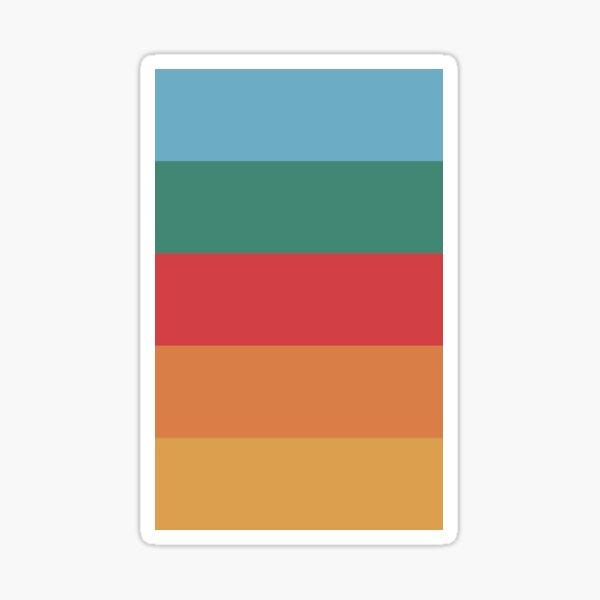 Wes Anderson Palette (Darjeeling Limited) Sticker