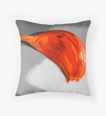 Garlic Colorized Throw Pillow