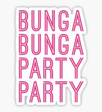 bunga bunga stickers redbubble