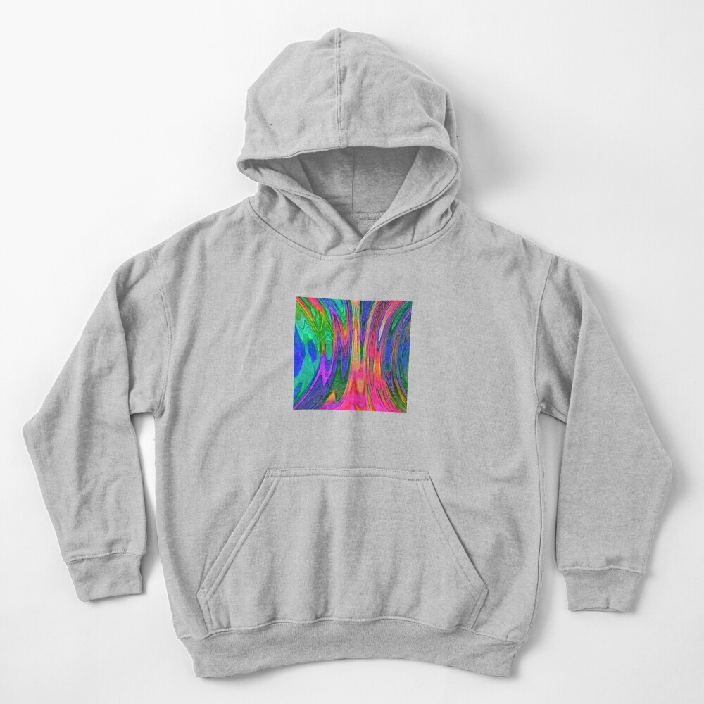 Dark Slate Blue Abstraction Kids Pullover Hoodie