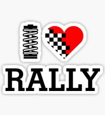 I Love RALLY (1) Sticker