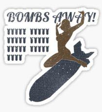 Vintage Look Bombs Away Pin-up Girl Art Sticker
