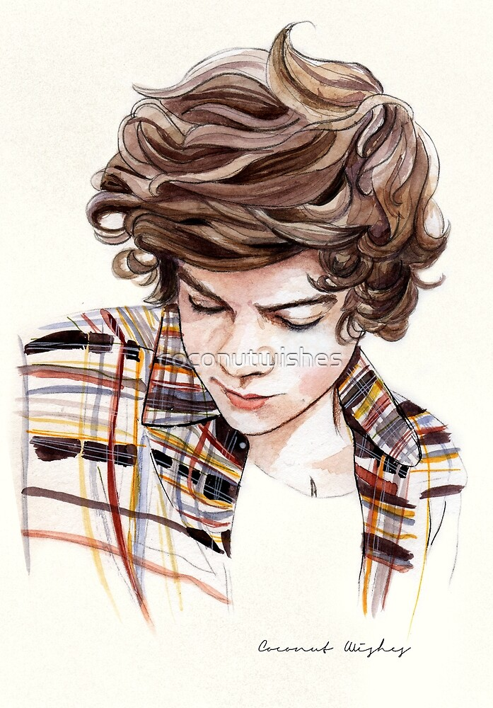 H plaid watercolors by coconutwishes