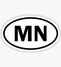 Minnesota – MN – oval sticker and more Sticker