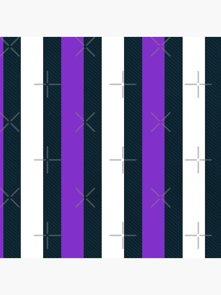 Purple White Vertical Pattern Stripes by IchGebWas