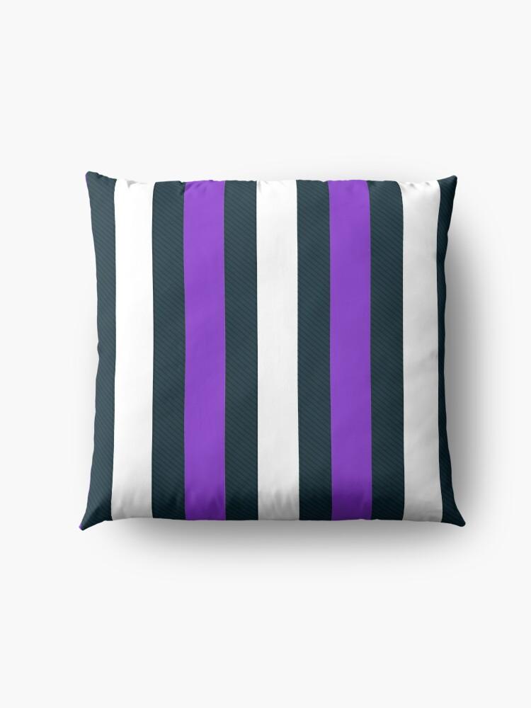Alternate view of Purple White Vertical Pattern Stripes Floor Pillow