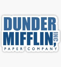 Pegatina Dunder Mifflin The Office Logotipo