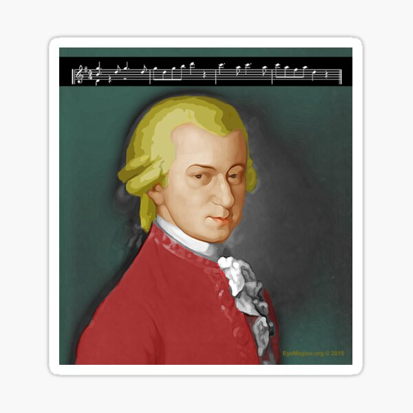 Nacht Mozart Sticker