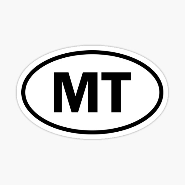 Montana - MT - oval sticker and more Sticker
