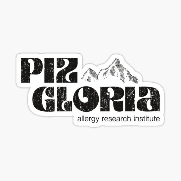Piz Gloria - institut de recherche sur les allergies (look usé) Sticker