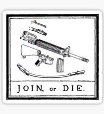 Join or Die Sticker