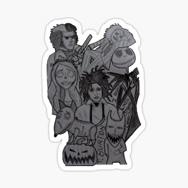 Beetlejuice Characters Stickers Redbubble
